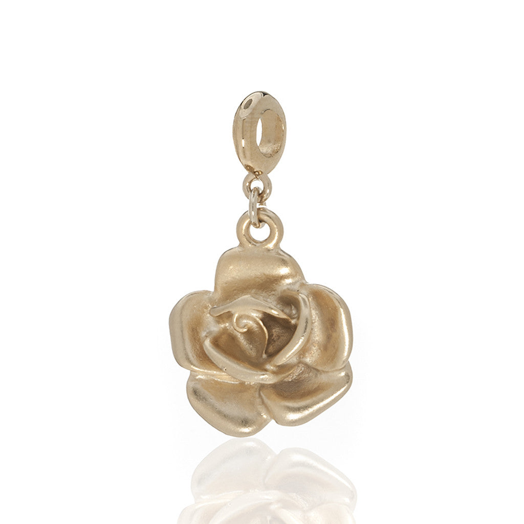 Garden Gold Rose Charm w Ring