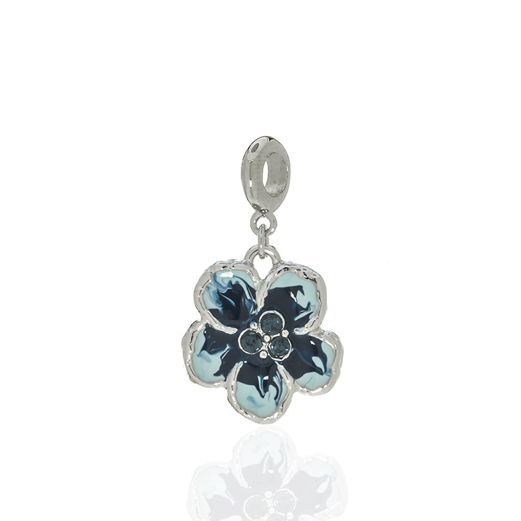 Orchid Evening Blue Mix Charm with Ring