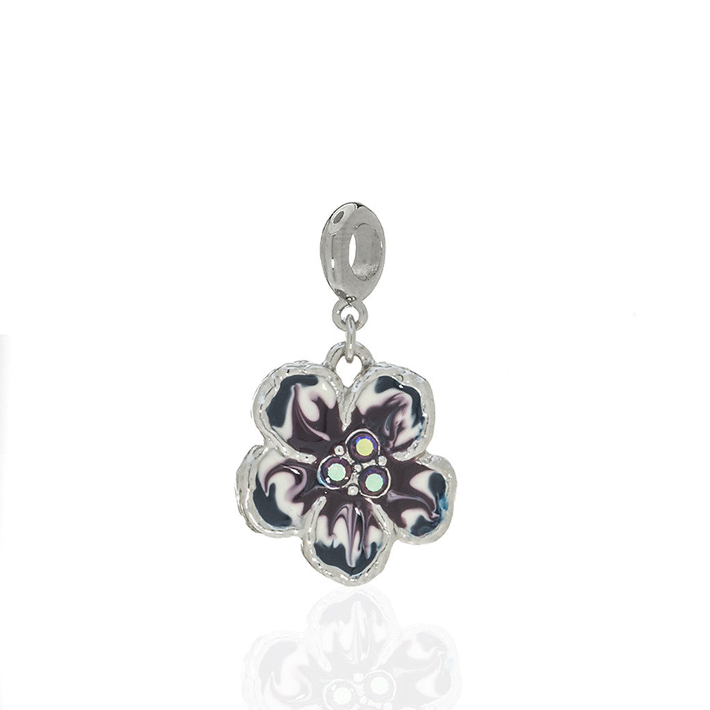 Orchid Evening Purple Mix Charm with Ring