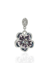 Orchid Evening Purple Mix Charm w Ring
