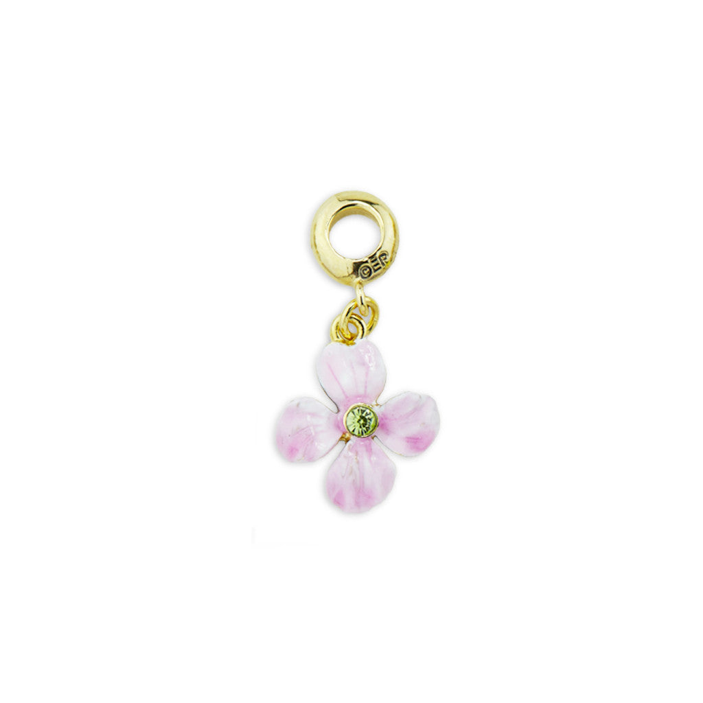 Wallflower Gold Tone Drop Charm