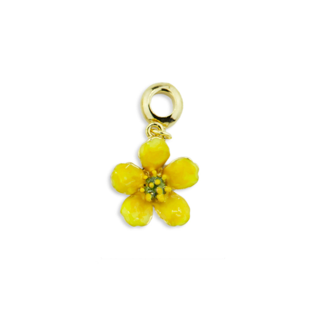 Buttercup Gold Tone Drop Charm