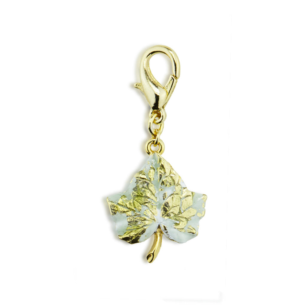 Ivy Gold Tone Drop Charm