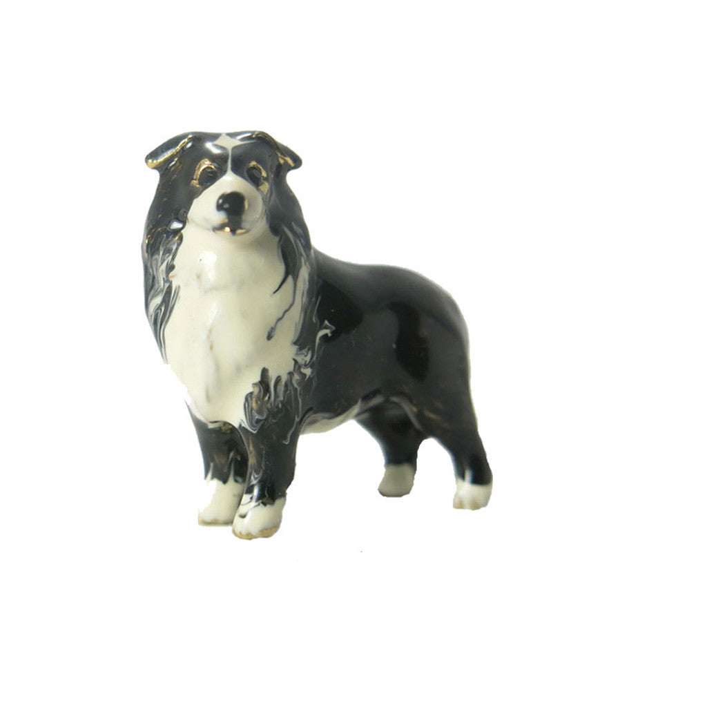 Black/White Border Collie Adorable Pooch ® Pin