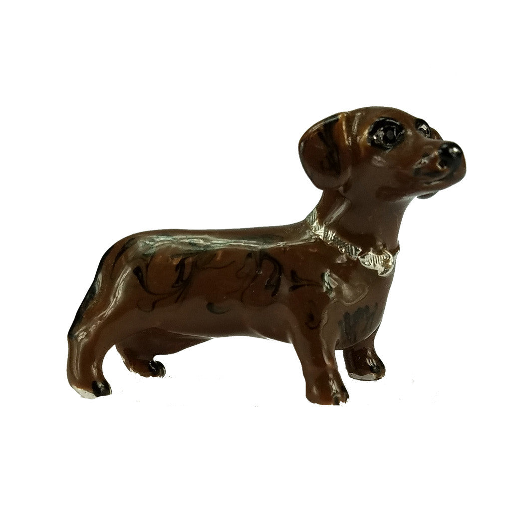 Brown Dachshund Adorable Pooch ® Pin