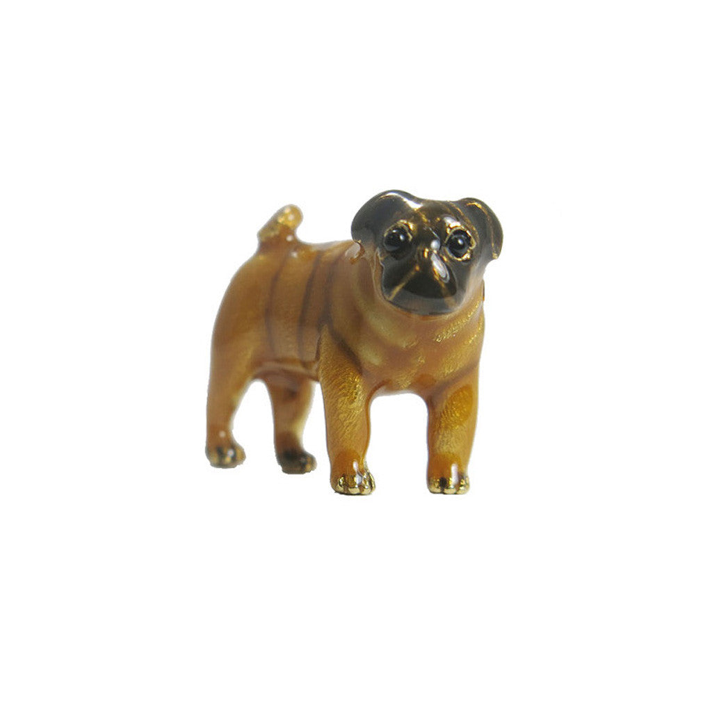 Brown Pug Adorable Pooch ® Pin