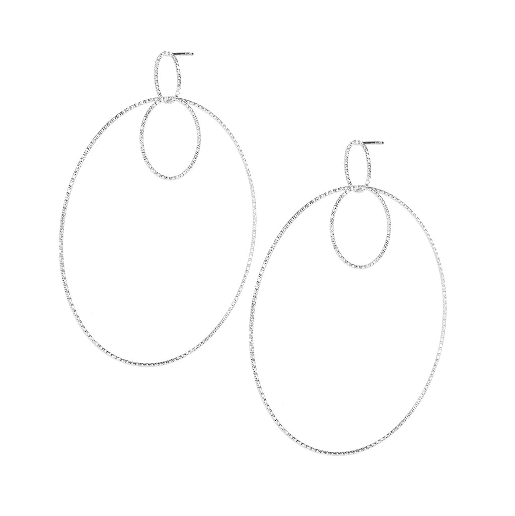 Sterling Silver Medium Round Drop earrings