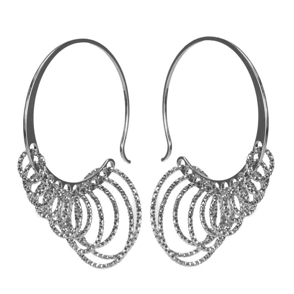 Sterling Silver Multiple Hoop Earrings