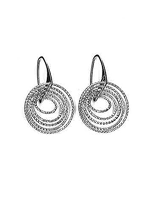 Sterling Silver Drop Earrings (Circle)