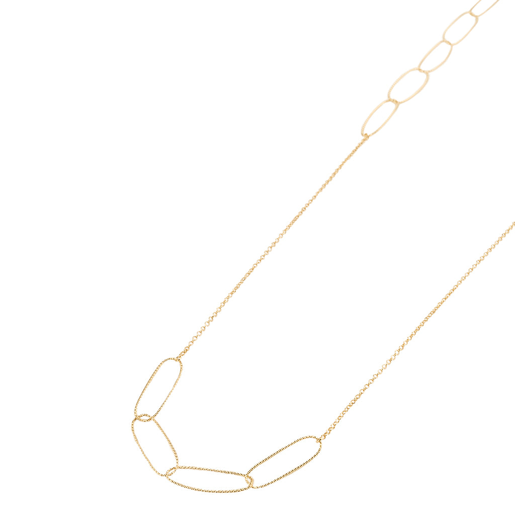 "40"" 22k Gold plated Sterling Silver Necklace"