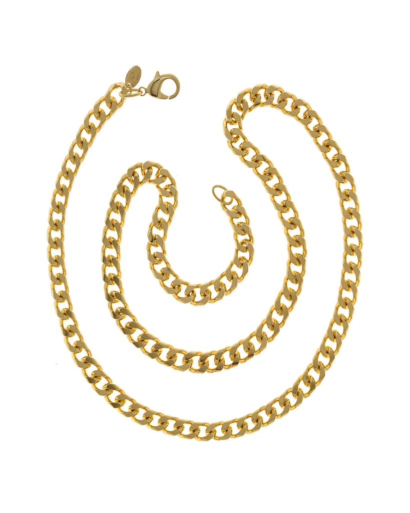22k Gold Plated Brass Curb Chain