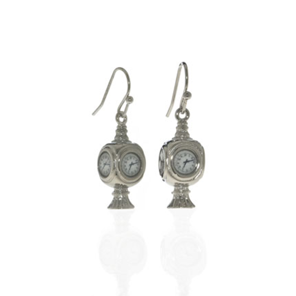 Grand Central Silvertone Drop Earrings
