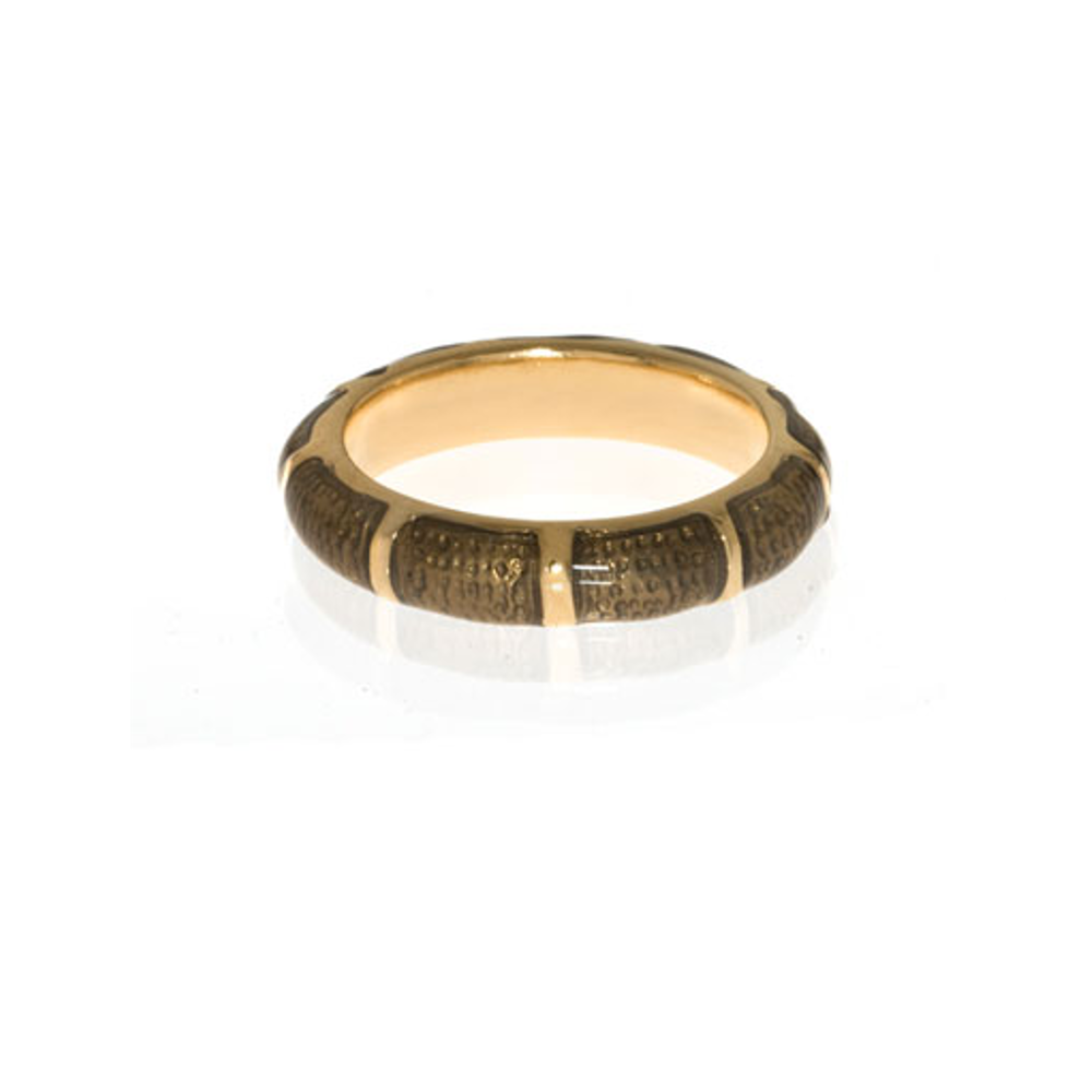 Brown Snakeskin Segmented Bamboo Ring