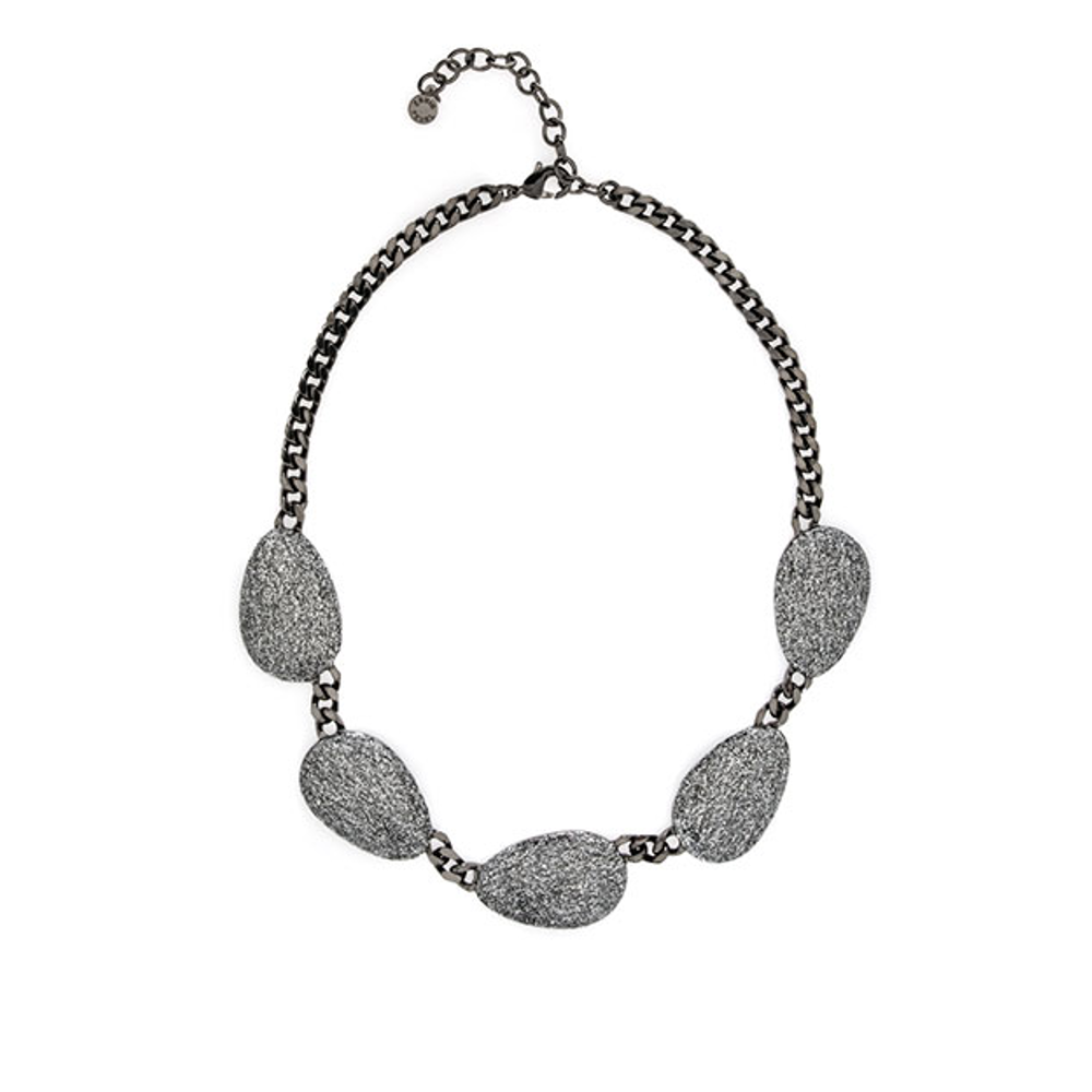 Stardust Hematite Multi Discs Collar Necklace