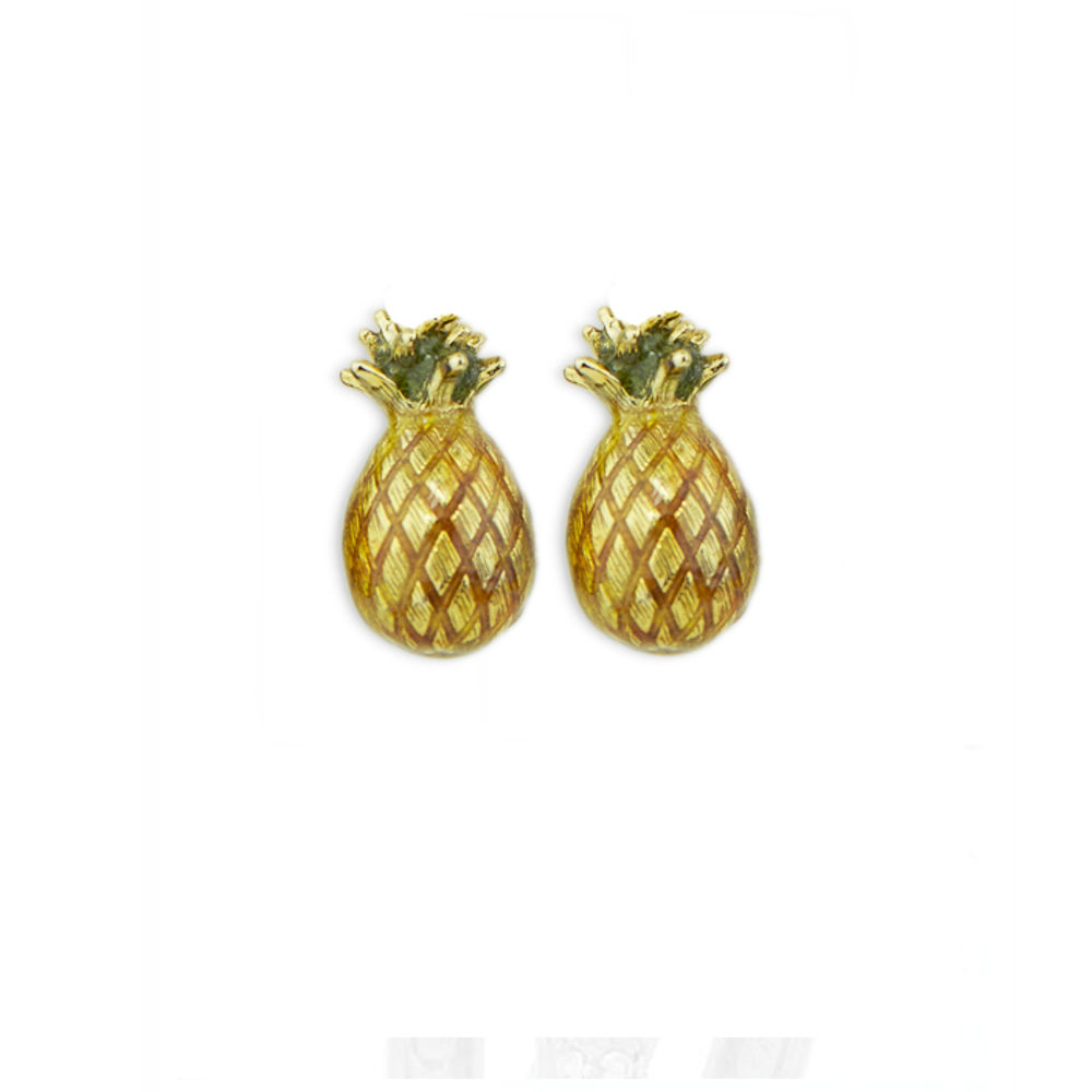 Pineapple Pierced Earrings