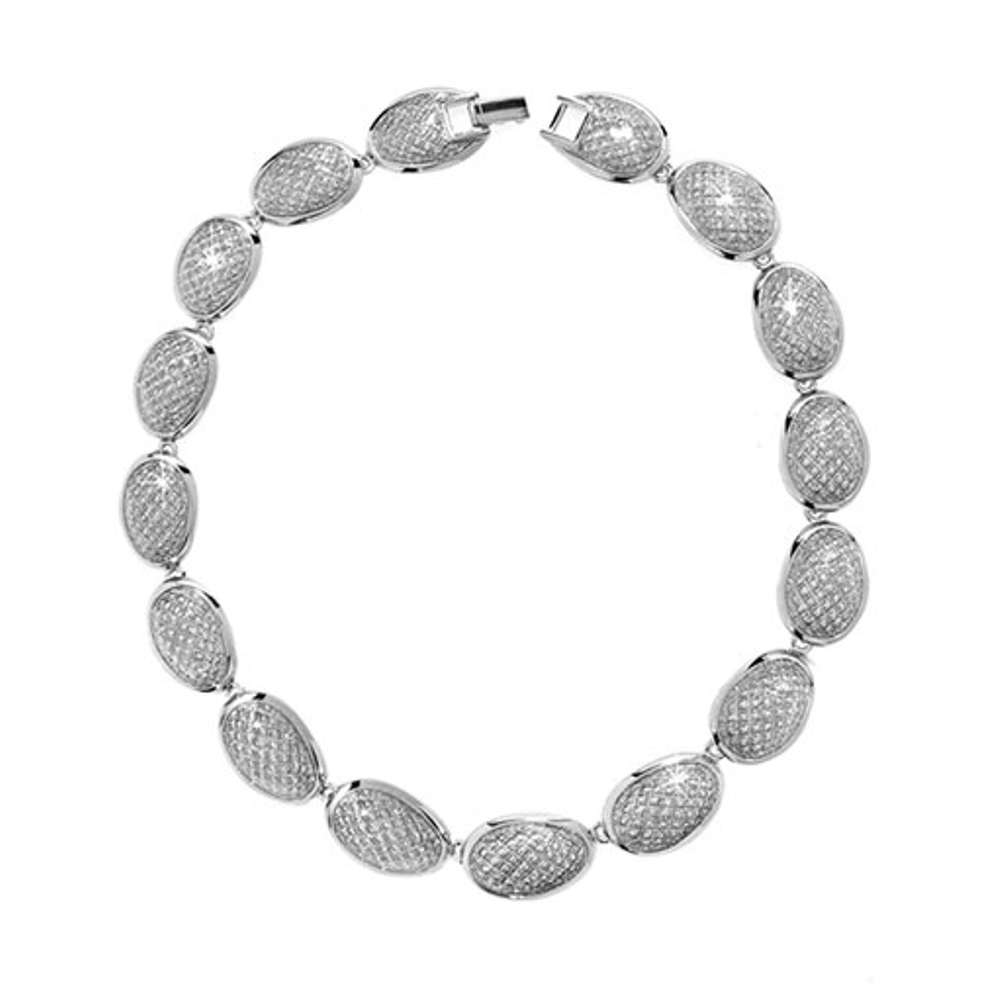 Stardust Silver Sharkskin Necklace