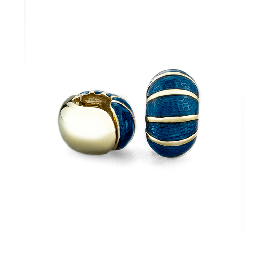 Blue Segmented Gold Reversible Hugs®