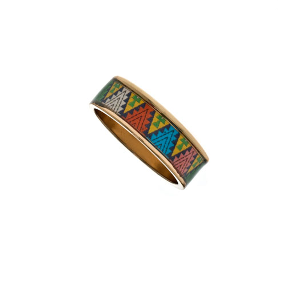 "MAYA™ Aztec Triangle 1/4"" Ring"