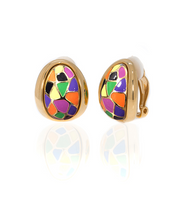 Italian Riviera Enameled Earrings