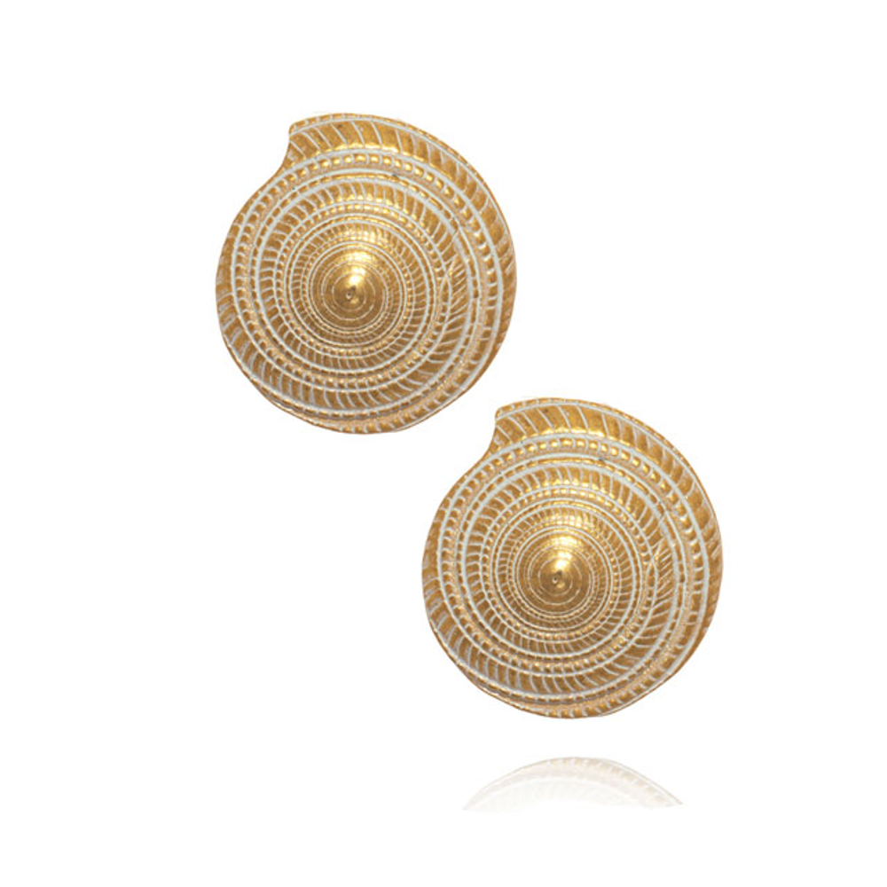 Maldives Seashell Button Earrings