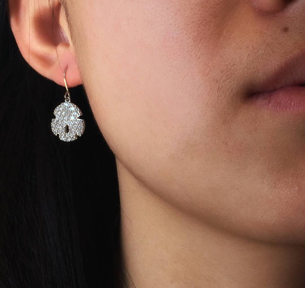 Sand Dollar Wire Earrings - Lucky Look of Diamonds™