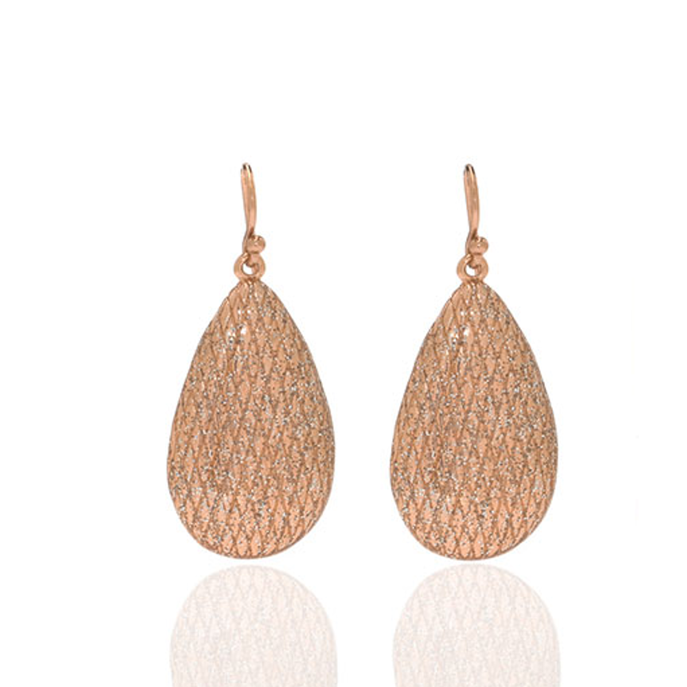 Stardust Rose Gold Tear Drop Earring