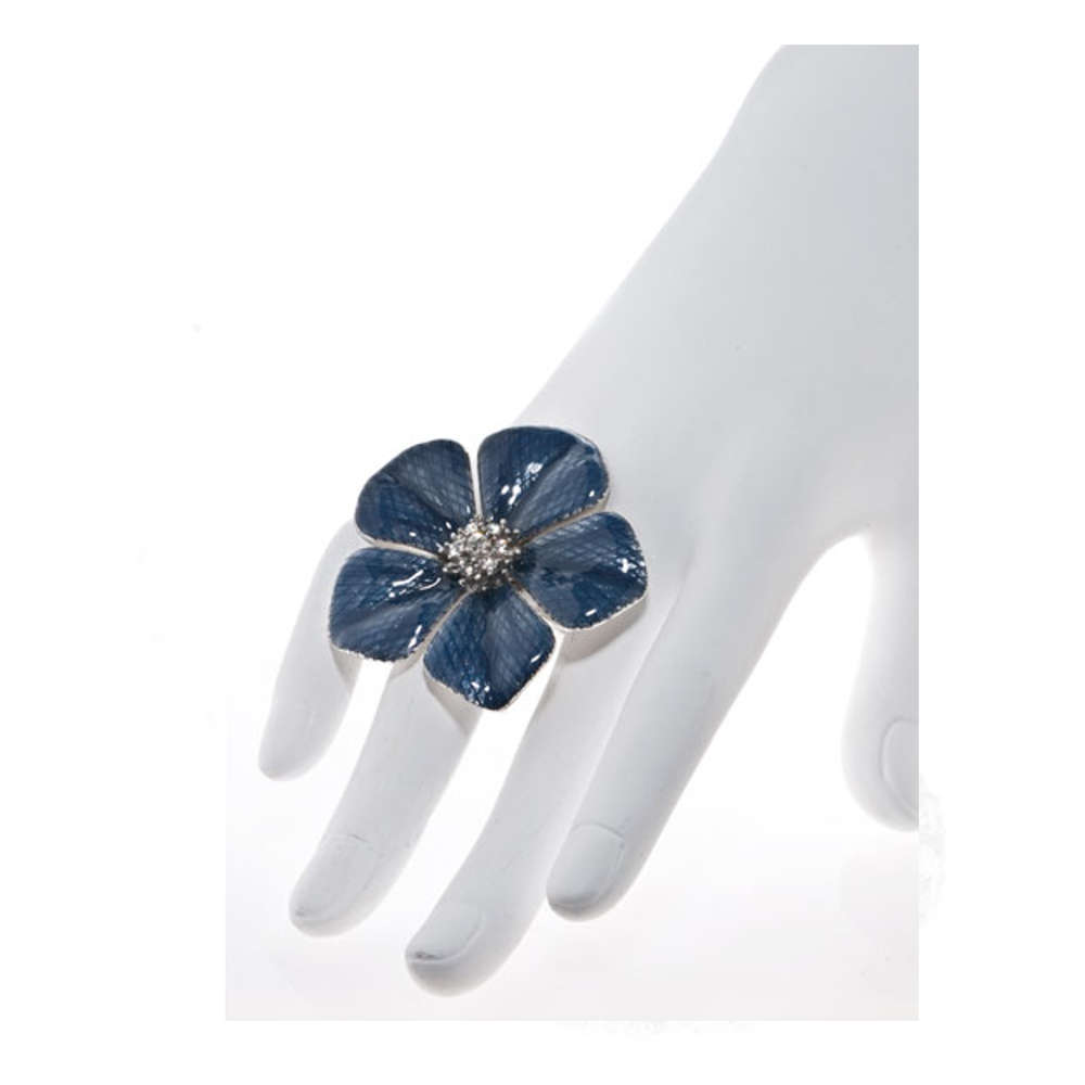 Garden of Love Blue Flower Ring