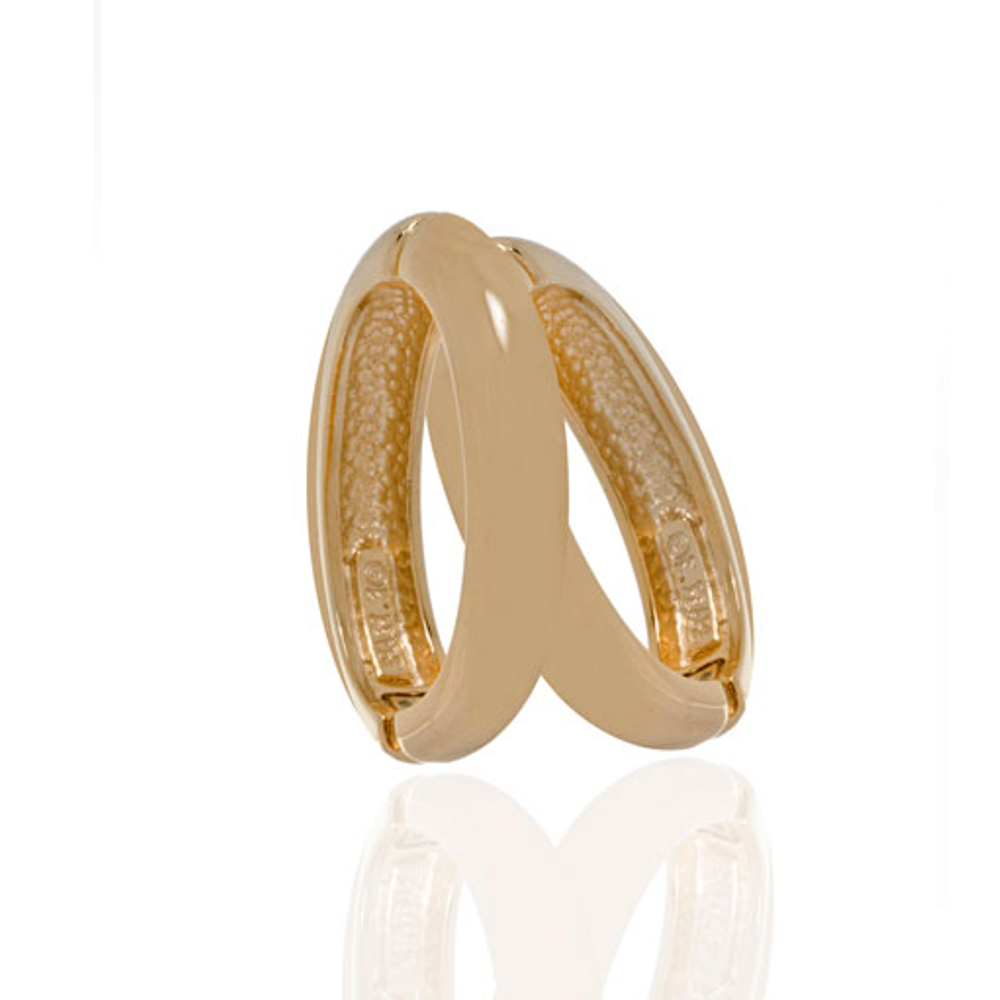 Medium Goldtone Hoop-Eze Earrings