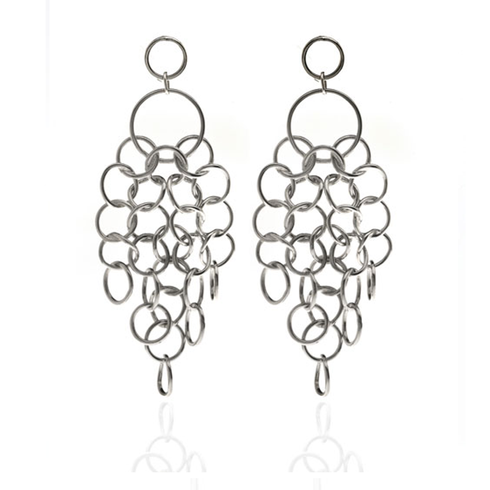 Circle Link Drop Earrings