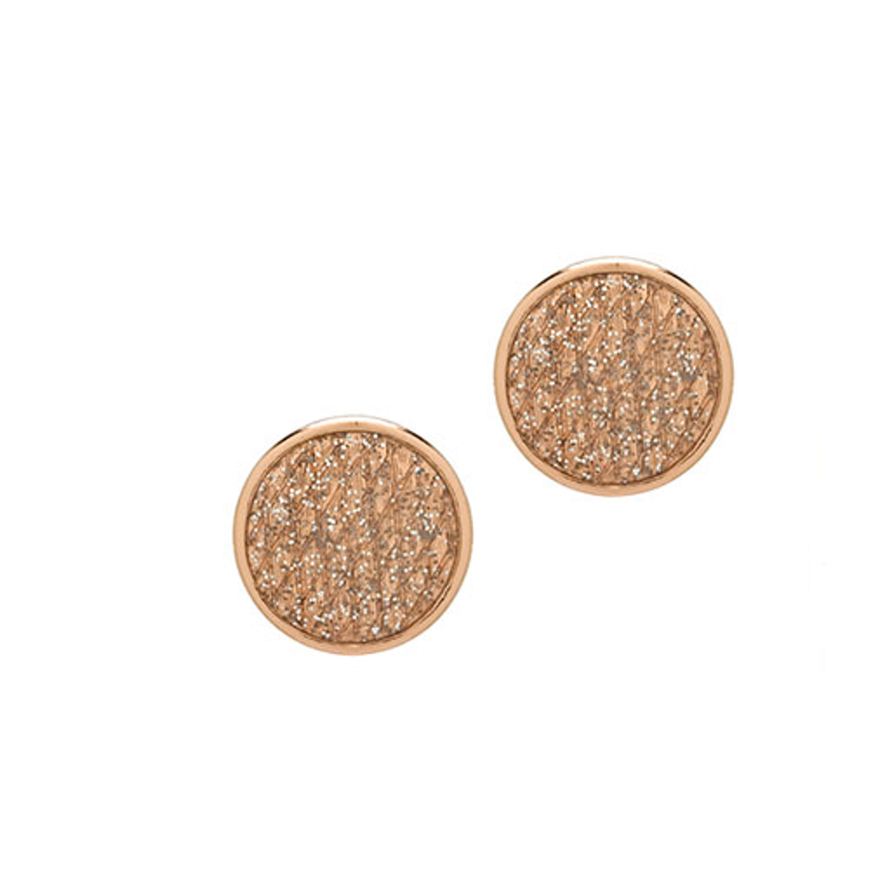 Stardust Rose Gold Snakeskin Button Earrings