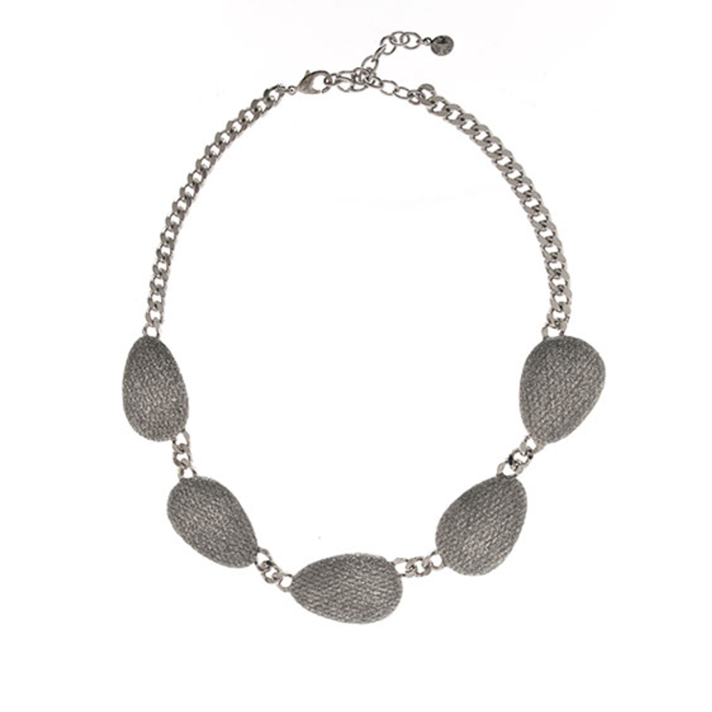 Stardust Silvertone Multi Discs Collar Necklace