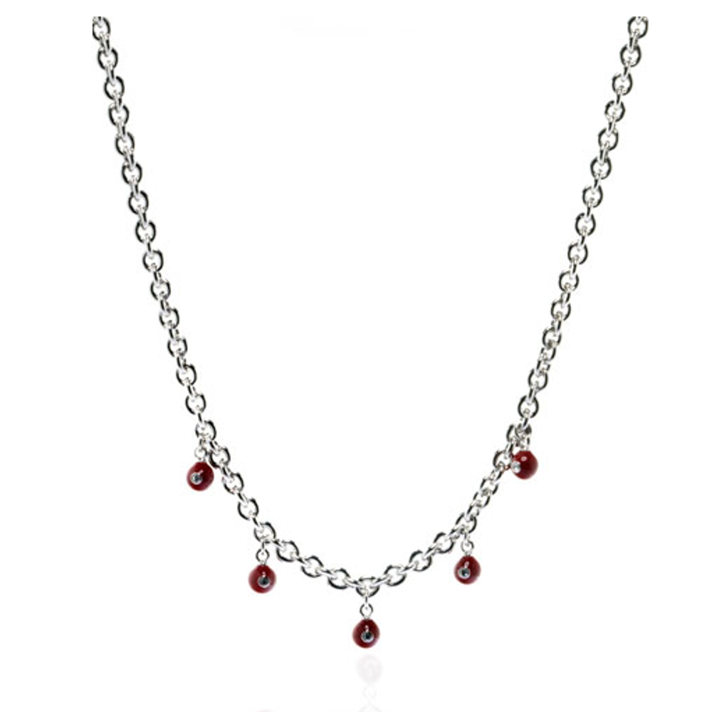 Red Starlight Charm Necklace