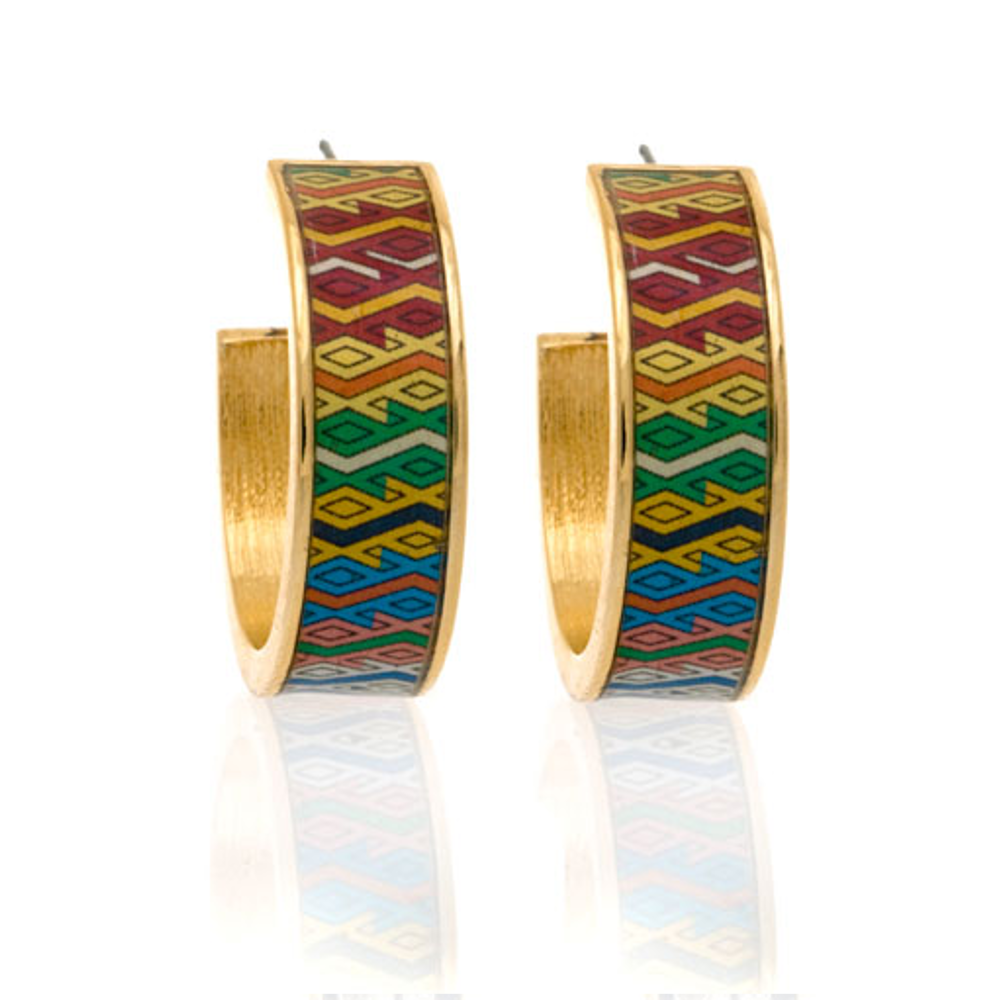 MAYA™ Aztec Diamond Hoop Earrings