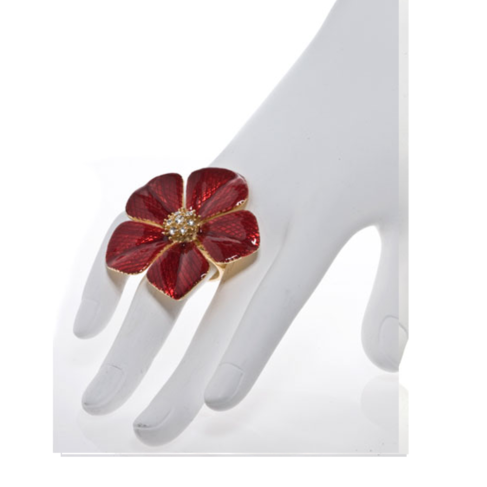 Garden of Love Red Flower Ring