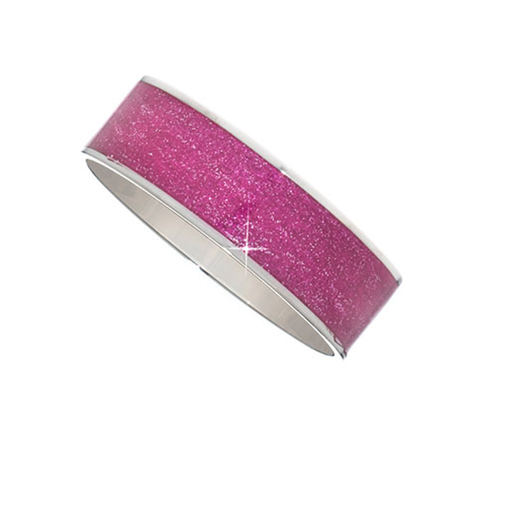 Medium Magenta Stardust Bangle Bracelet