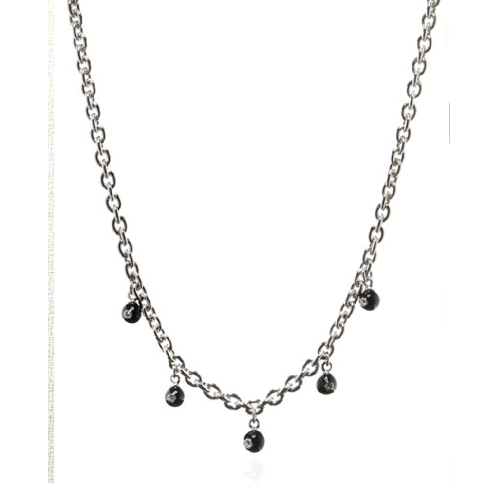 Black Starlight Charm Necklace