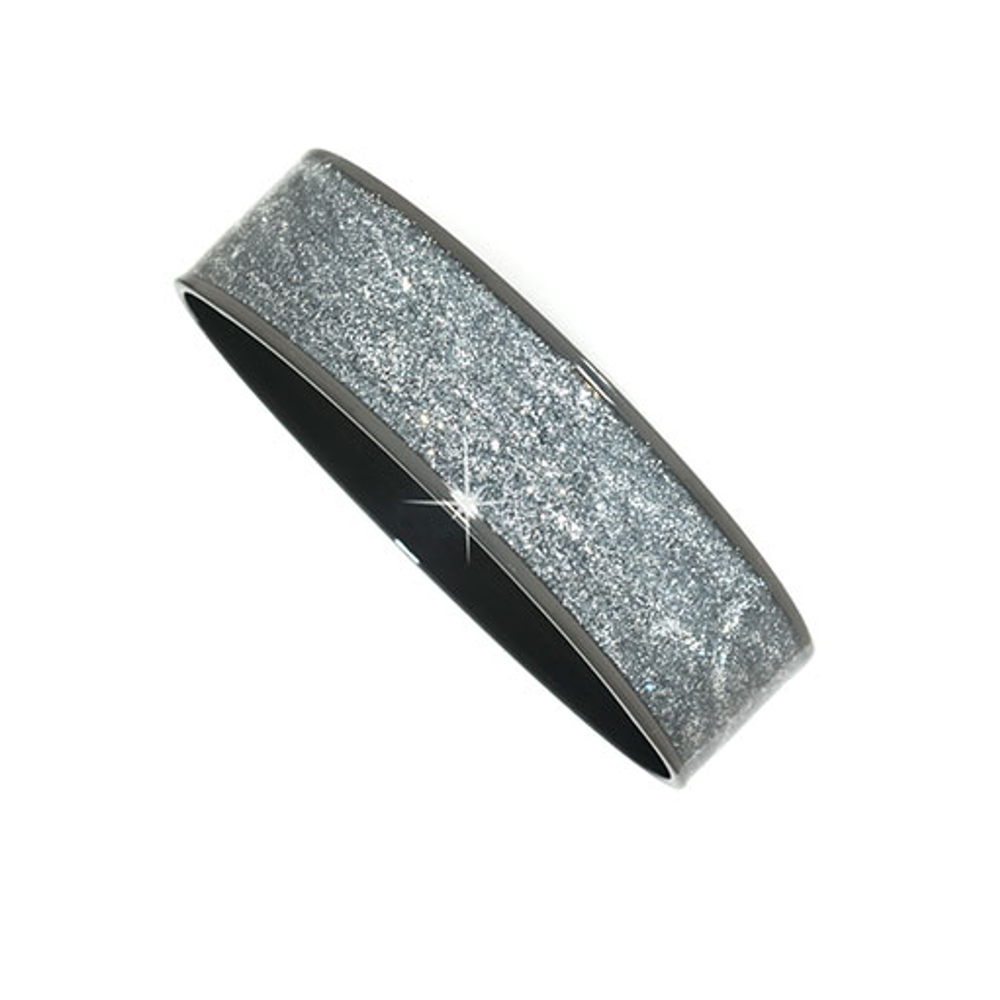 Hematite Stardust Thick Bangle