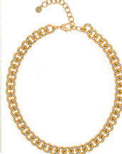 Curb Link Gold Tone Necklace