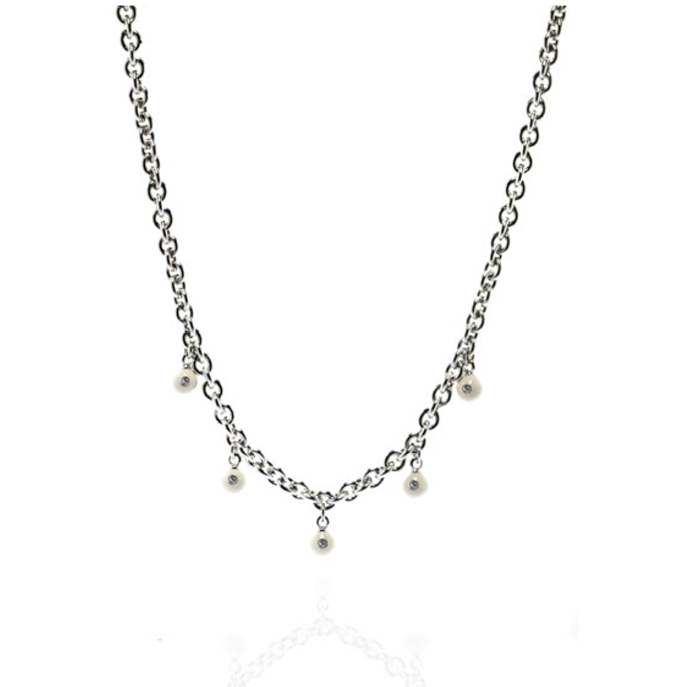 White Starlight Charm Necklace