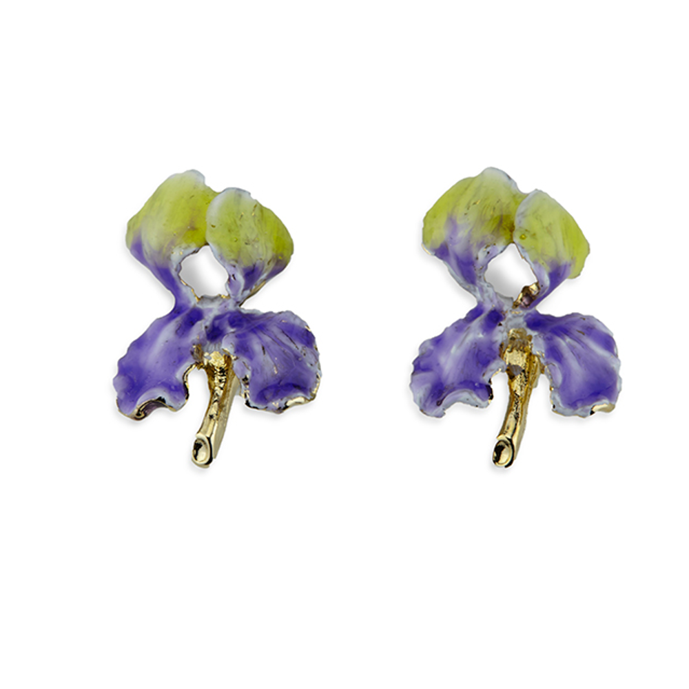 Iris Pierced Earrings