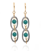Excelsior Silver Tone Turquoise Drop Earrings