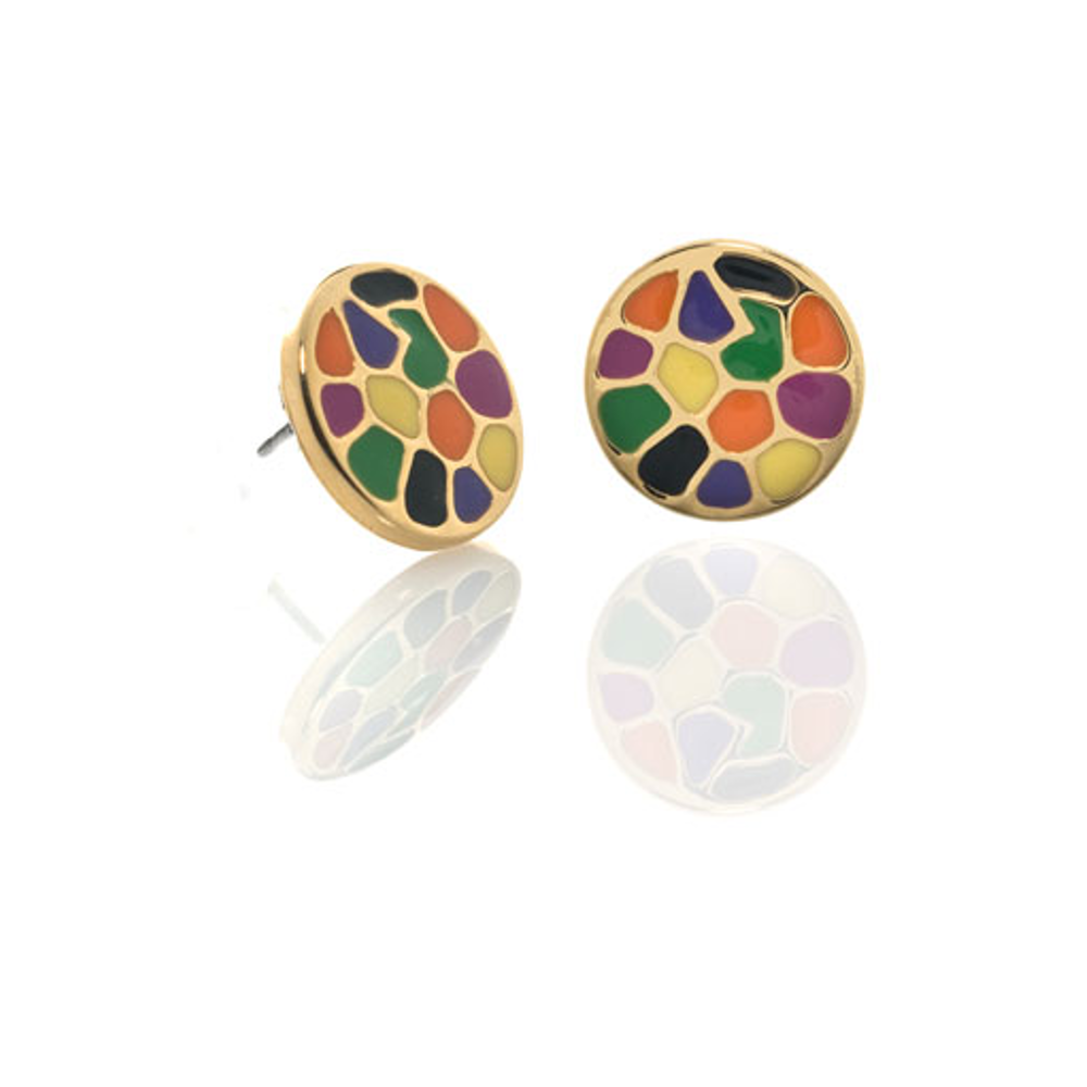 Italian Riviera Button Earrings