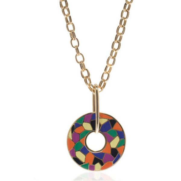 Italian Riviera Open Disc Pendant Necklace