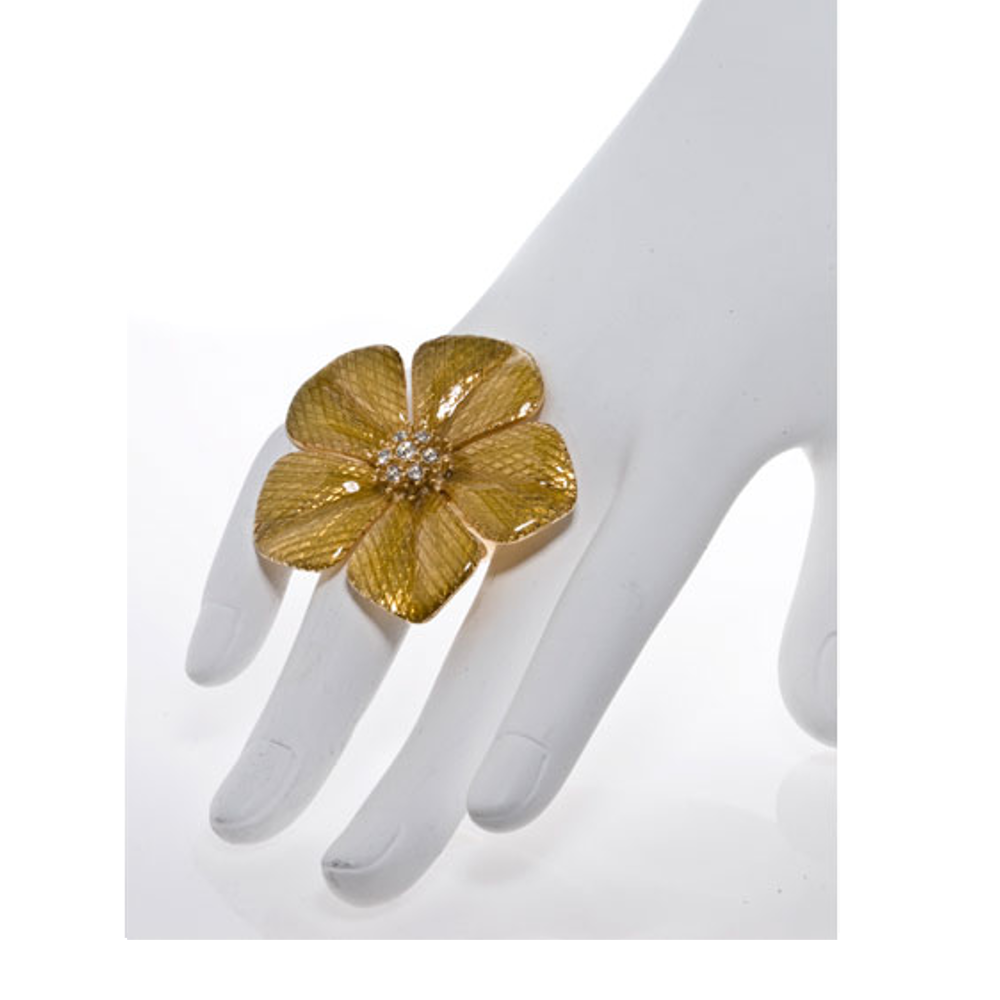 Garden of Love Mustard Flower Ring