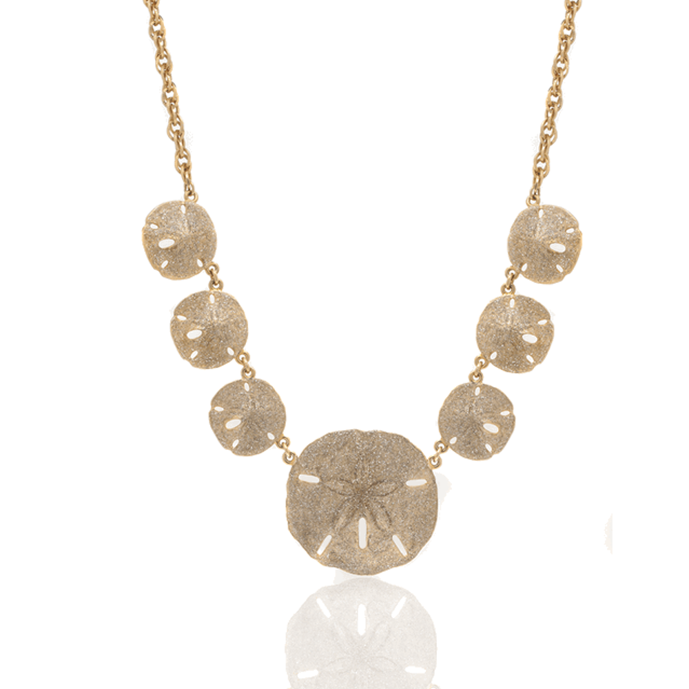 Rose Gold Stardust Sand Dollar Necklace