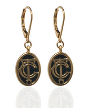 Grand Central Black Goldtone Drop Earrings
