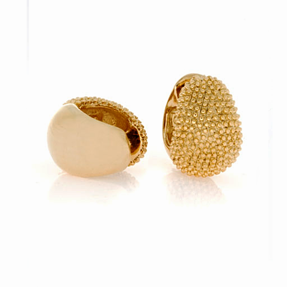 Graduated Caviar Gold Tone Large Reversible Hugs®Clip
