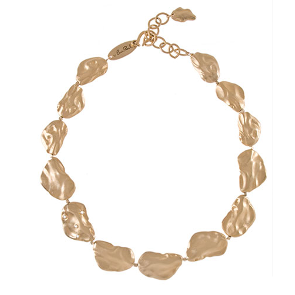 Goldtone Matte Collar Necklace