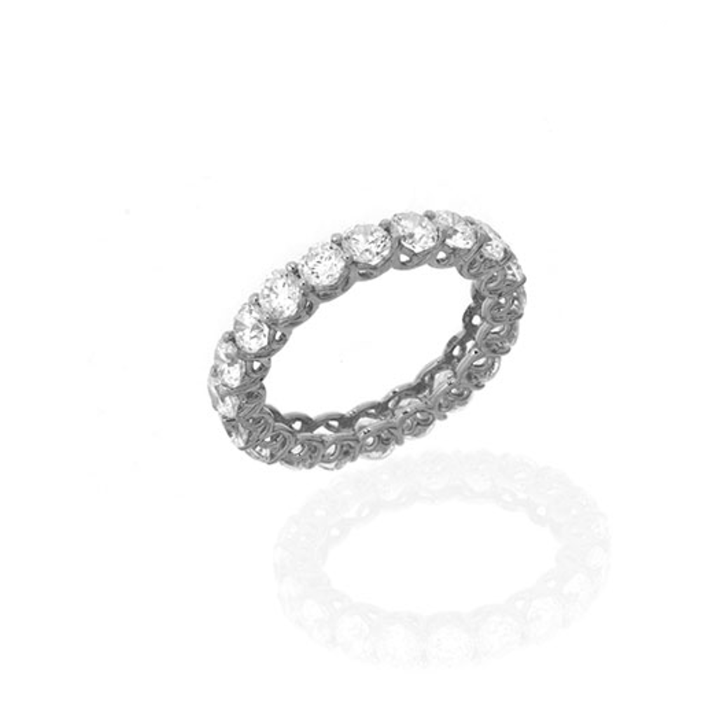 3.15 CT Sterling Silver & Cubic Zirconia Eternity Band