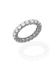 Sterling Silver & Cubic Zirconia Eternity Band 3.15 CT